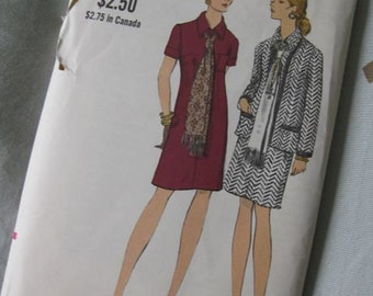40% off SALE - Vogue Size 14 Women's Dress, Jacket and Scarf 7845 - was 12/now 7.20