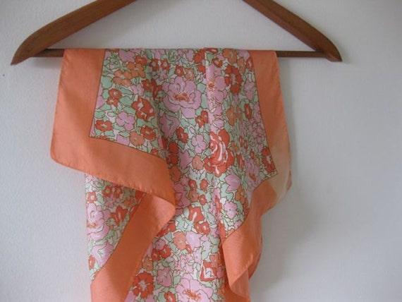Peach and Mint Garden Party Scarf by Liberty of London