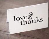 Printable / Love & Thanks Storybook Wedding Notecard  / (DIY)