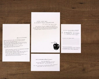 Modern Organic Essentials / Printable Wedding Invitation Kit (DIY)