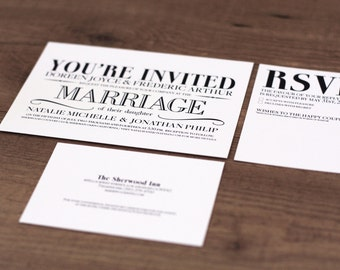Printable / Vintage Modern Essentials Wedding Invitation Kit (DIY)