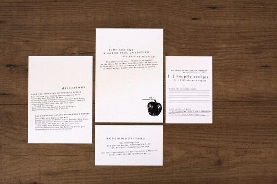 Modern Organic Essentials / Printable Wedding Invitation Kit (DIY)
