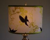 "8x12"" oval 9"" tall- Hummingbird Lampshade"