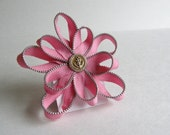Zipper Flower Hair Piece- She Sails