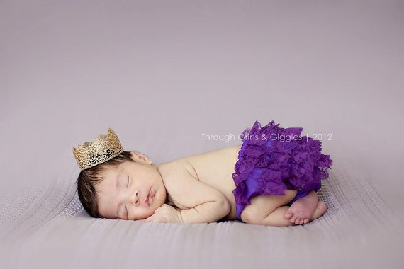 "Vintage ""Grace"" Handmade Crown - 4 Color Choices - Photography Prop - Newborn - Baby"