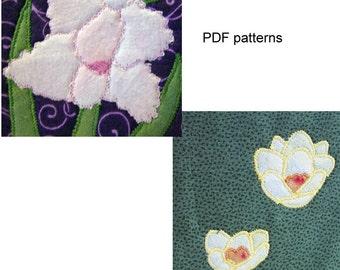 e-pattern applique pdf crocuses and gladiolus