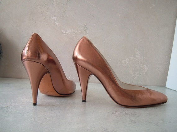 Gorgeous  metalic copper color, sexy  high heel shoes