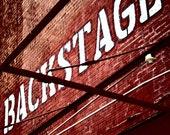 Backstage - San Antonio Fine Art Photography Rustic Industrial Photo 4 x 6