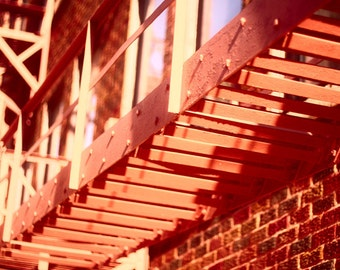 Industrial Home Decor - Moving Up No 1 - Urban Fine Art Photography 8 x 10