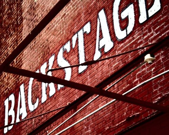 Backstage - San Antonio Fine Art Photography Rustic Industrial Photo 8 x 10