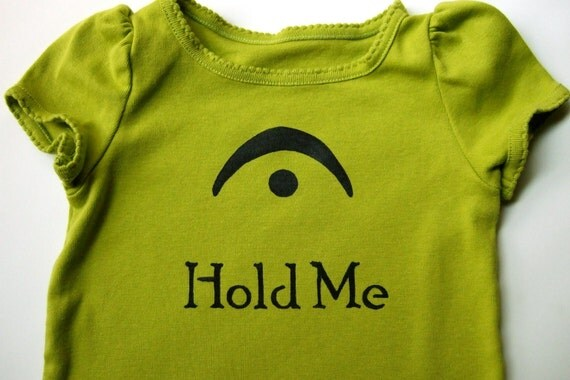 SALE -- I'm a Fermata - Hold Me (Black on Spring Green) - Toddler Tee Size 18M
