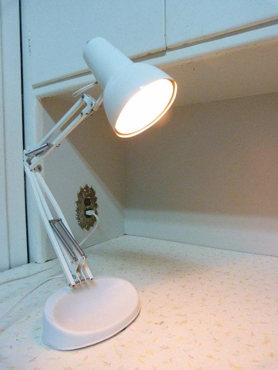 Mid Century Modern Luxo Desk Lamp with Base White