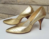 50s 60s Stiletto Heels Mad Men Size 7