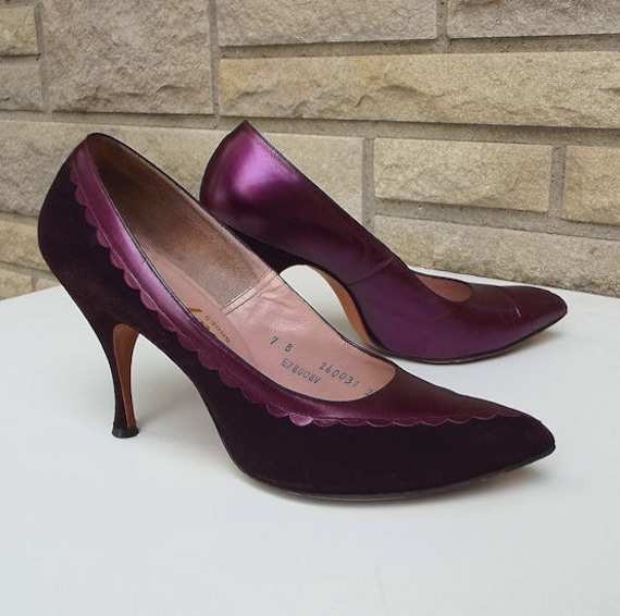 50s 60s Stiletto Heels Mad Men Size 7.5