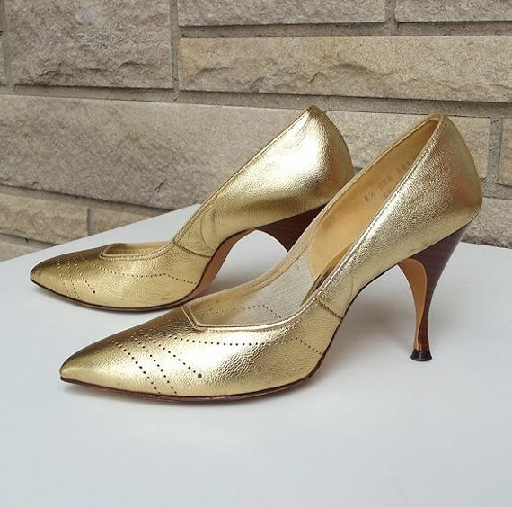 50s 60s Stiletto Heels Mad Men Size 7