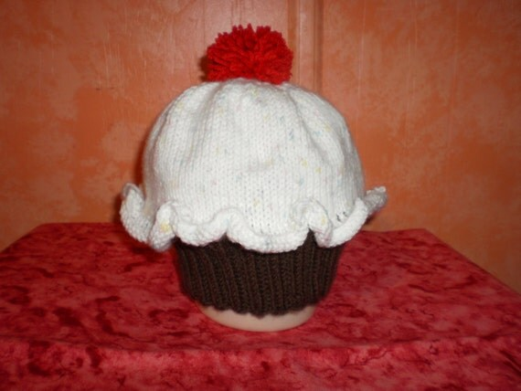 Childs Knit Cupcake Hat