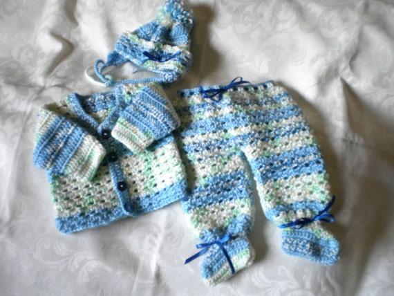Blue Skies Newborn Baby Boy Set