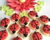 Ladybug Mini Sugar Cookies, 6 dozen
