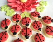Ladybug Mini Sugar Cookies, 24 dozen
