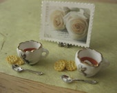 Easter Carrot Bisque Soup for Two -  12th Scale Miniatures