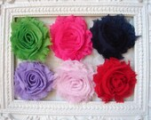 Set of Six Shabby Flower Headbands  - 18 Colors Available