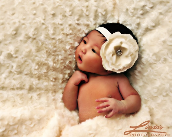 Ivory Flower Headband - All Sizes
