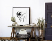 Ink Painting - Dragon Sumi-e - Featured in Etsy Finds - Art Print