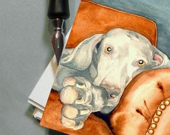 Weimaraner Art Cards - Dog Painting Greeting Cards