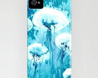 iPhone 7 Case Jellyfish Abstract Painting - Designer Cell Phone Cover - iPhone or Samsung Case