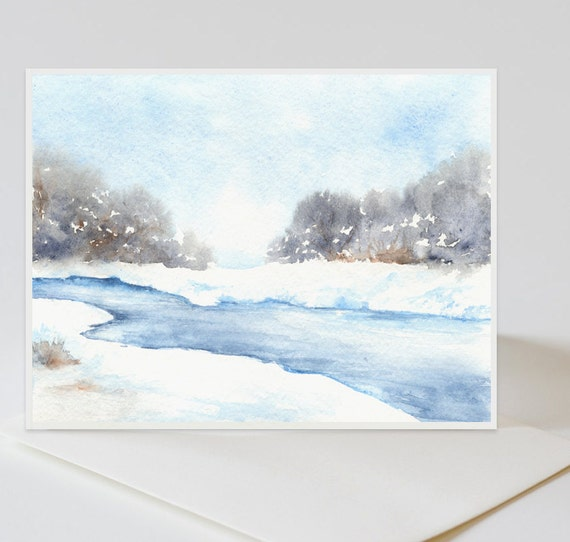 Set of 25 Christmas Cards  - Personalized Pick ANY Painting
