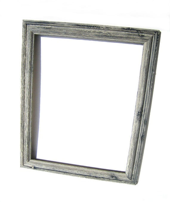 Grey Rustic Wood Frame - Barn Wood Style Home Decor - Mount Art Photo Picture Frame