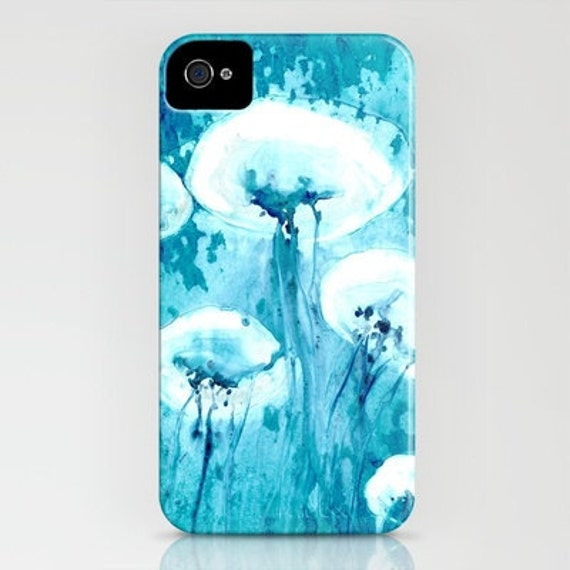 Phone Case Jellyfish Abstract Painting - Designer Cell Phone Cover - iPhone or Samsung Case