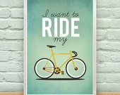 DIGITAL DOWNLOAD of I Want To Ride My Bicycle artwork