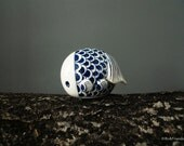 Bo The Goldfish Ceramic – Dark Blue Scaley Bo - Large