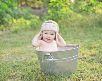 Aviator Bomber Hat Newborn to Toddler sizes Photography Prop