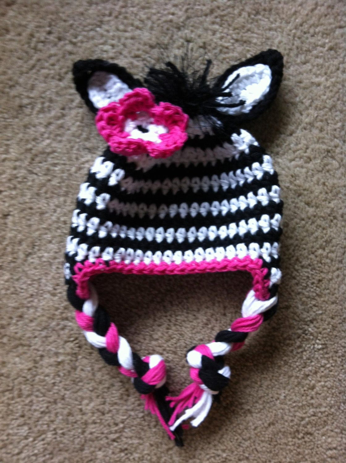 Crochet Zebra Hat : Crochet zebra hat newborn zebra hat toddler zebra by MRocheCrochet