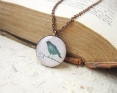 FREE WORLDWIDE SHIPPING - Green Bird Short Necklace