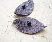 FREE WORLDWIDE SHIPPING - Purple Leaves Clay Earrings
