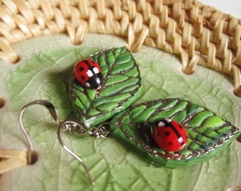 Cute Ladybug Earrings