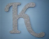 SILVER GLITTER Children's or Wedding Day Wall Letters