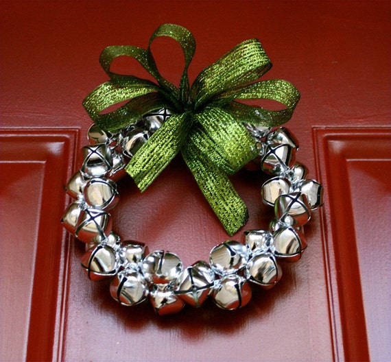 Small Silver Jingle Bell Wreath