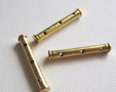 3 Hole Spacer Tubes, 14mm Gold