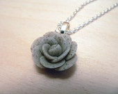 Granite Grey Rose Necklace