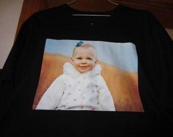 Plus Size Custom Photo Tshirt