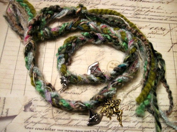 Titianas Forest Fairy Witch's Ladder Pagan Wicca Witchcraft Prayer beads Rosary
