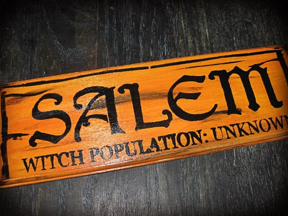 Primitive Sign Kitchen Witch Wicca Halloween Magic Shabby Old World