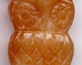 Hoot Aventurine Owl Focal Pendant