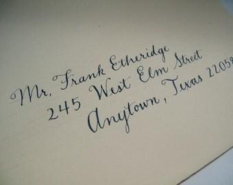 Calligraphic Wedding Envelopes