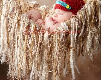 Cream Photo Props Fringe Hammock / Baby Blanket Neutral 'Granola'