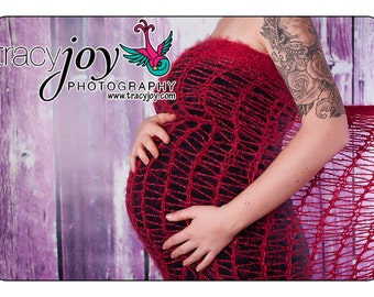 Photography Prop for Pregnancy Pictures for Pregnancy Announcement - Belly 2 Baby Pregnant Mama Wrap, EXTRA WIDE, Pick Color